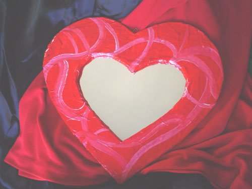 Specchio cuore papier coll - Specchio a cuore ...